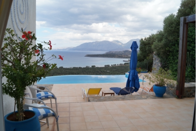 Detached Crete villa for rent with pool and magnificent sea view