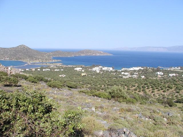 A wonderful building plot near Elounda Crete for sale with uninterrupted view