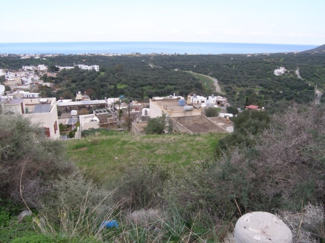 Building plot for sale in Milatos with sea views