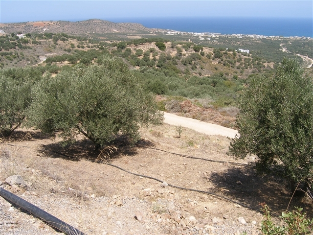Crete plot for sale with building permission and sea view