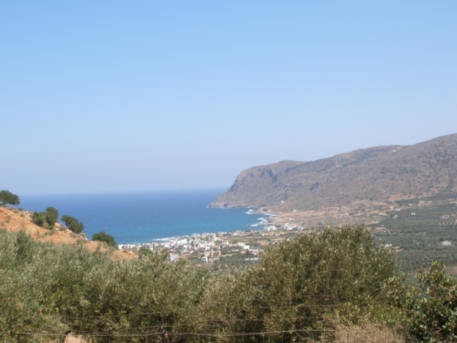 For sale in Crete a plot with sea view near Milatos