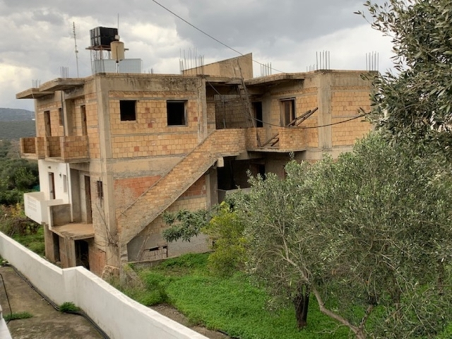 Unfinished building for sale in the seafront village of  Kalo Chorio