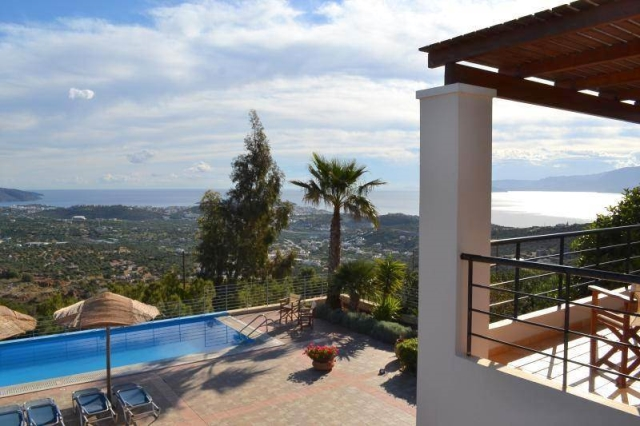 Luxury two storey villa for rent with panoramic sea and town views