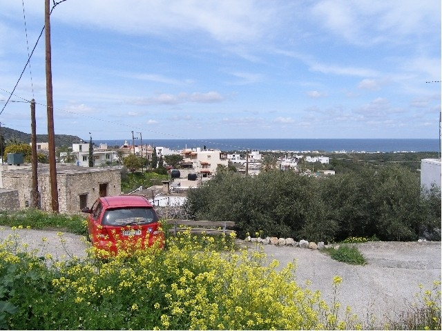 Plot of 485m2 in Milatos with sea views for sale