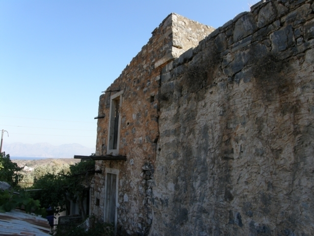 Old Cretan stone house for sale and renovation