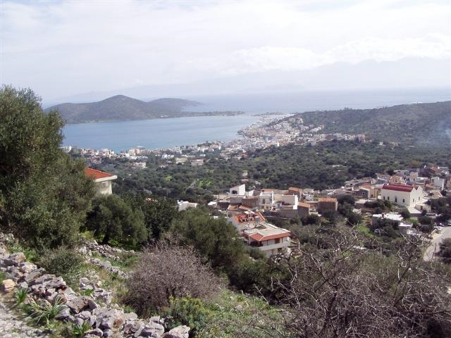Plot with sea view for sale in Pano Chorio, Elounda