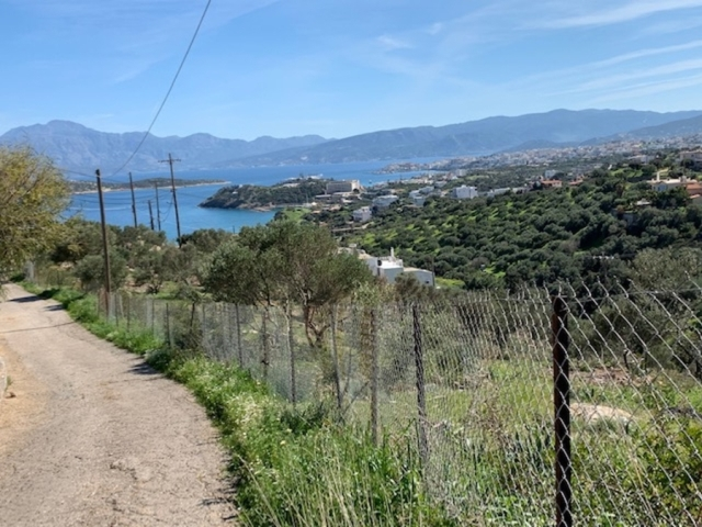 Building plot 10.711m2 for sale with sea view in the area of Katsikia, Aghios Nikolaos