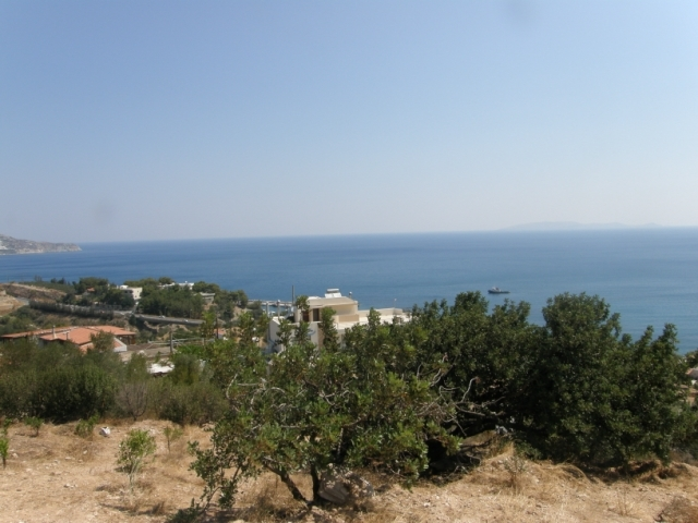 Crete land for sale with sea view, building license and many attributes near Heraklion